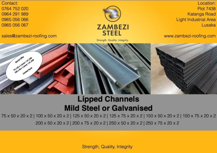 Lipped Channel special offer