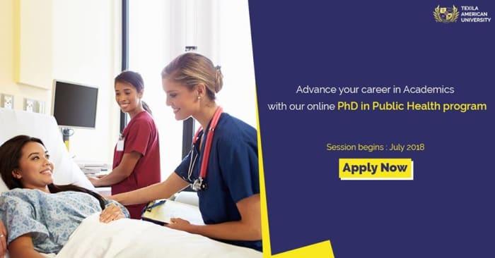 Applications open for PhD in Public Health