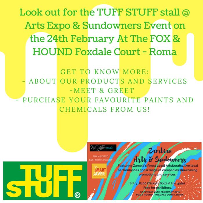 Tuff Stuff at the Arts Expo & Sundowners event
