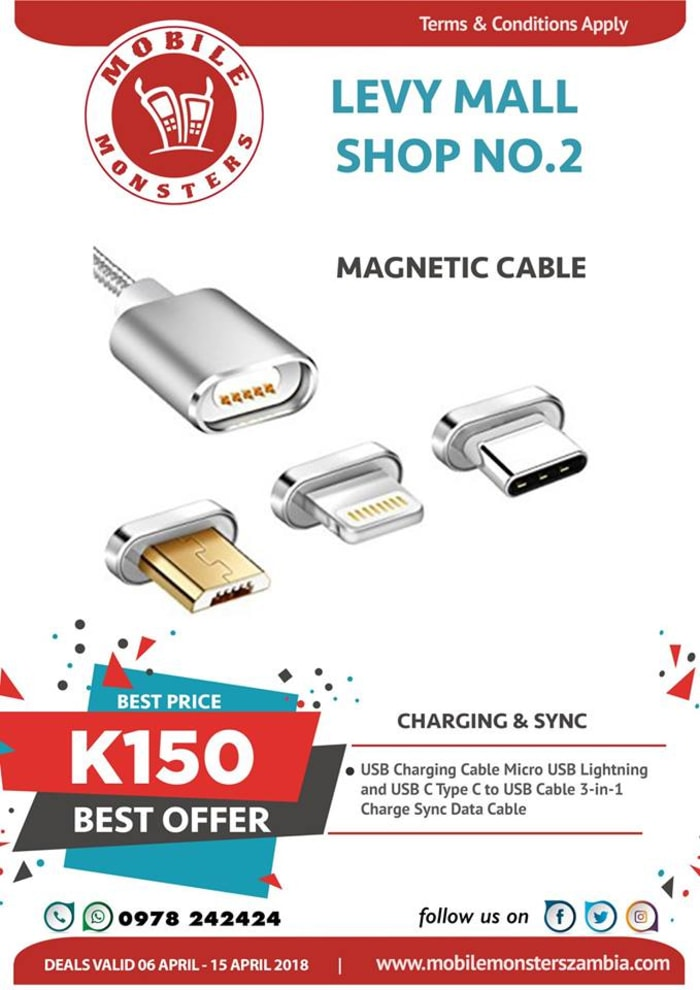 Magnetic cables available in stock