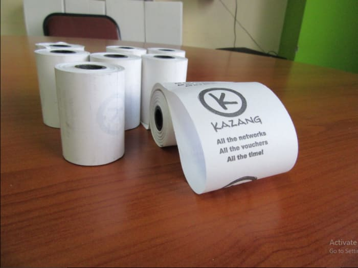 Free POS Terminal paper rolls for businesses