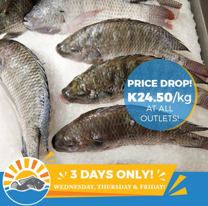 3 days price drop on fresh fish