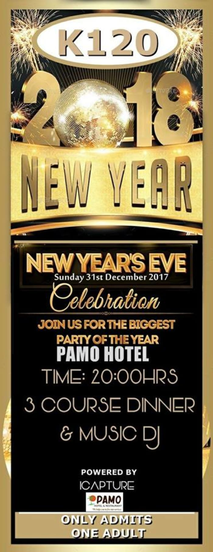 New Years Eve party celebration at Pamo Hotel