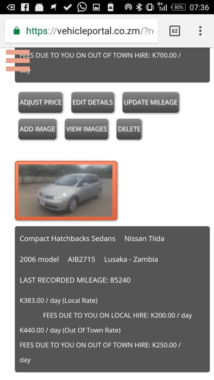 Manage your car listing on Vehicle Portal