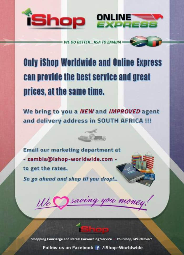New address for deliveries in South Africa