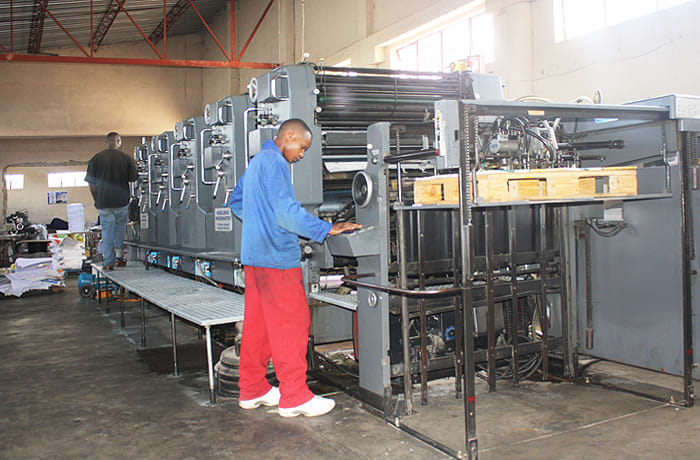 Up to date printing machinery to do huge volumes of full colour jobs in a day