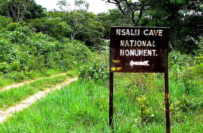 """Nsalu Cave - view Stone Age Man's """"schematic"""" rock paintings"""