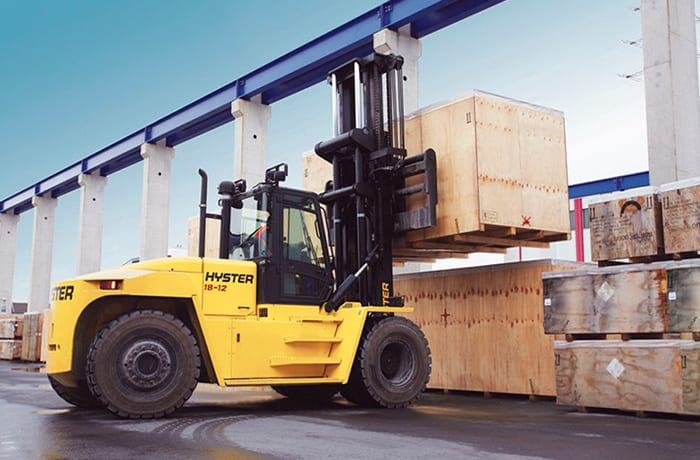Range of Hyster material handling vehicles