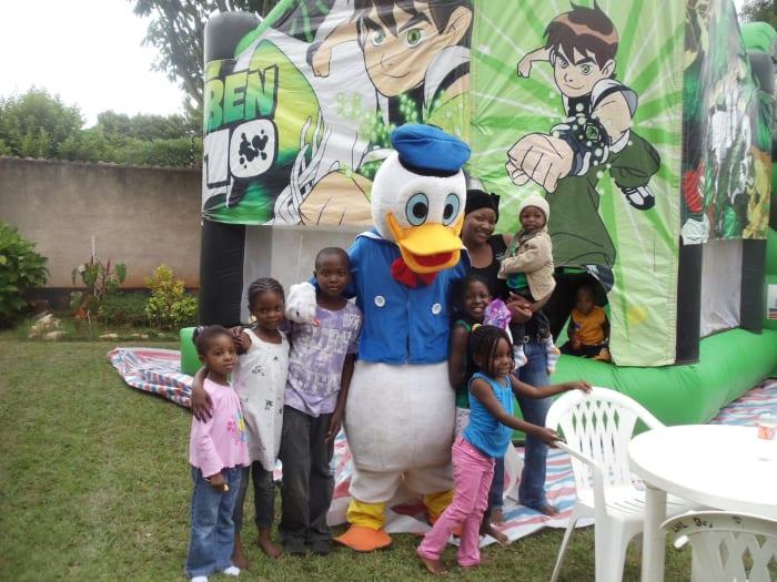 Efficient hiring services for children's parties