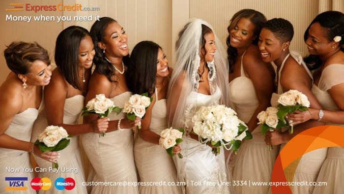 Have your dream wedding with an ExpressCredit Zambian loan