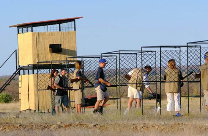 Shooting range offering two types of clay pigeon shooting