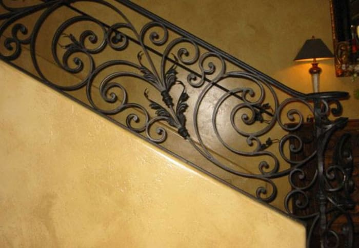 Custom made staircase railings