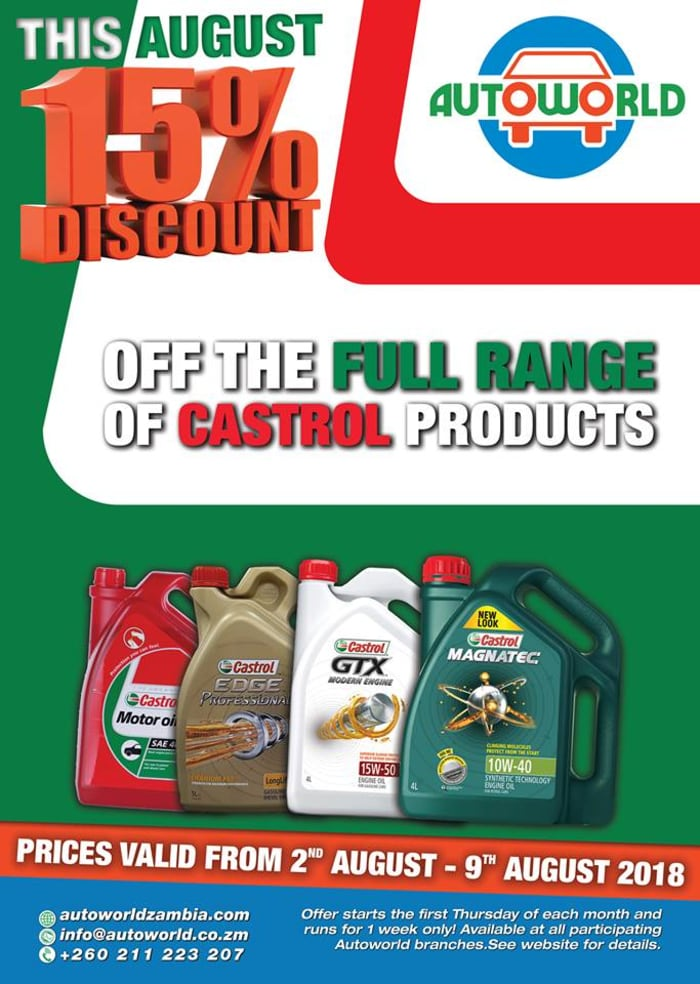 15% off Castrol products
