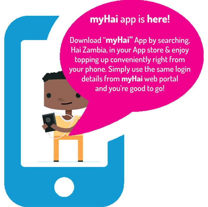 Top up and check your data with myHai app