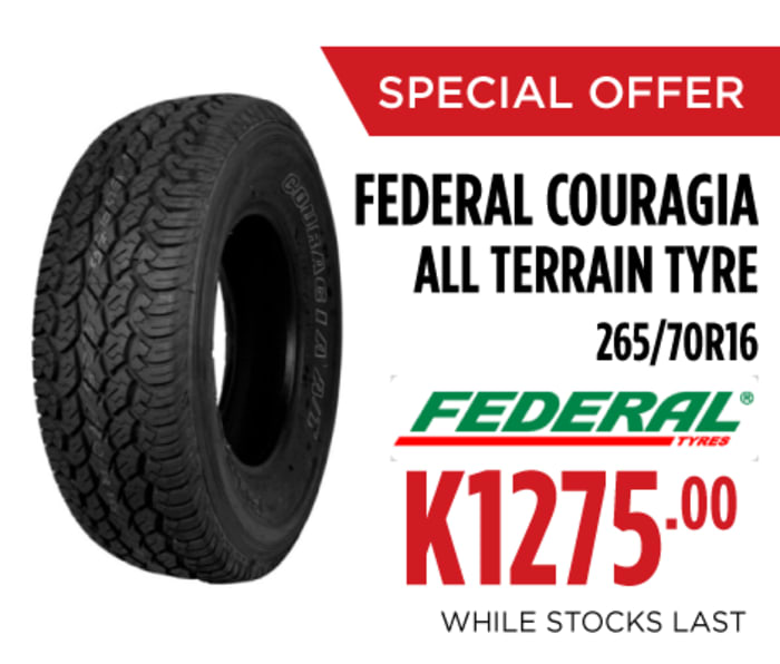Special offer on Federal couragia all terrain tyres
