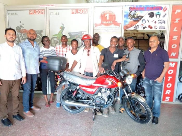 First delivery of new Pilson 150cc motorcycle completed