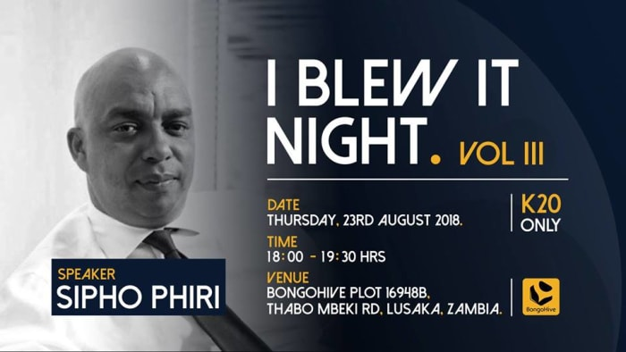 I blew it night - Business failures chat with Sipho Phiri
