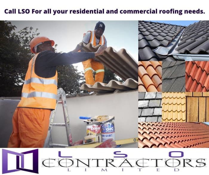 Supply and installation of roofing materials available