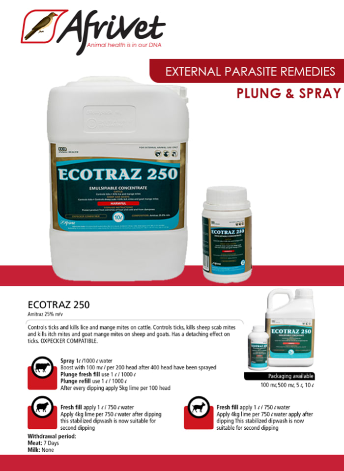 Ecotraz external parasite remedy available in stock