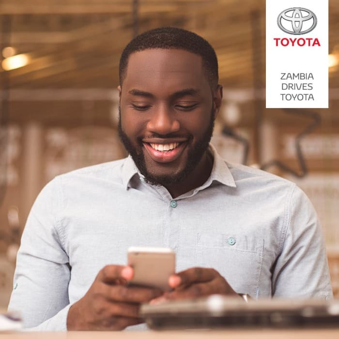 Manage your services or book a test drive with the Toyota Zambia App