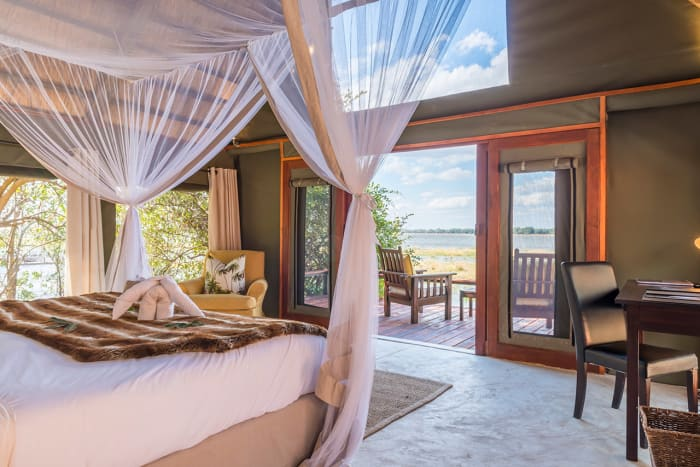 Suites at one with the surrounding private wilderness areas