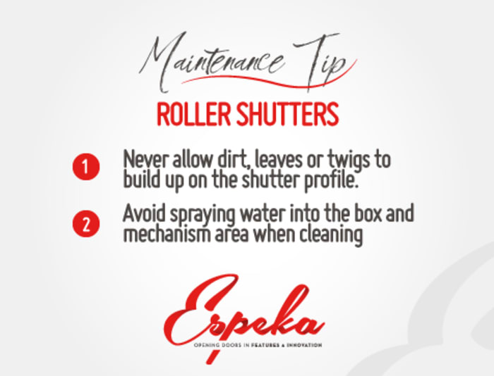 Roller shutter maintenance tip for the day