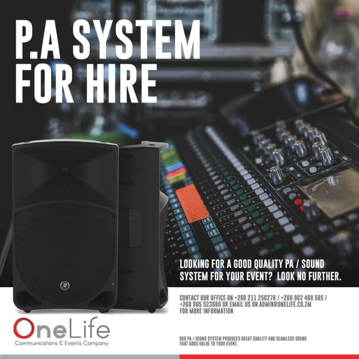 PA System available for hire