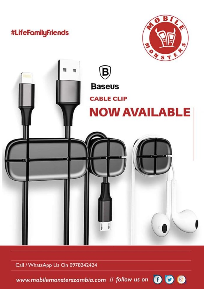 Baseus cross cable clip available in stock