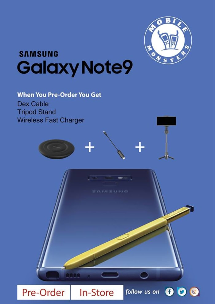Pre-order the new Galaxy Note 9 and get free accessories