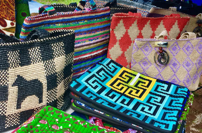 Chikumbuso Women and Orphans Project is known for their unique handcrafted bags and purses