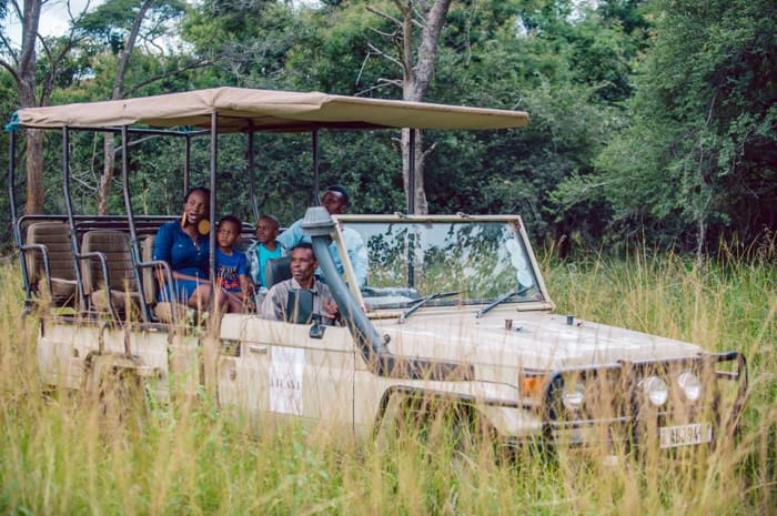 Game drive activity in Lusaka