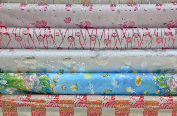 Diverse range of fabrics