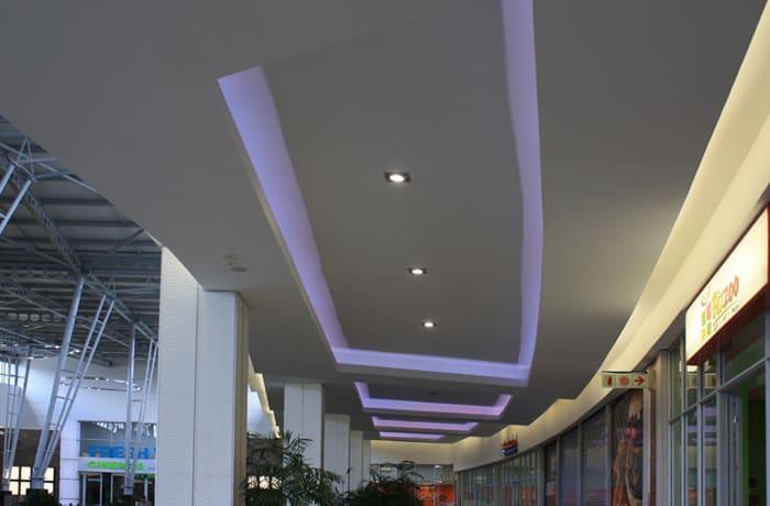 Designer ceiling installation