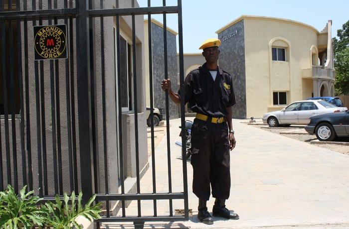 Dedicated security guards