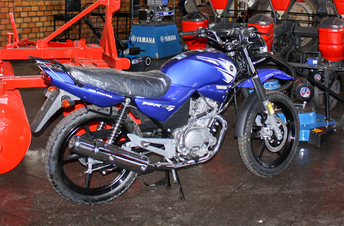 A selection of brand new motorbikes, parts, as well as accessories