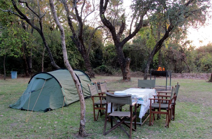 The campsite can accommodate up to 35 campers