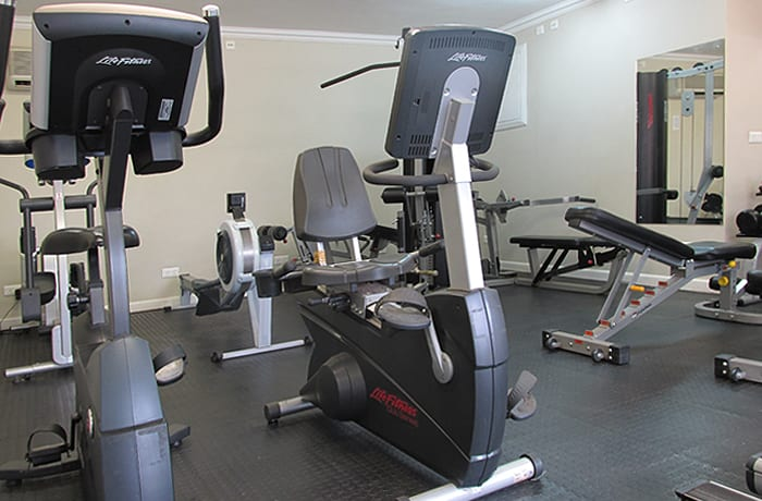 A fully kitted out gym