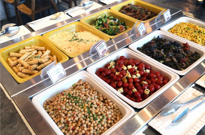 Wide selection of local and international delicacies