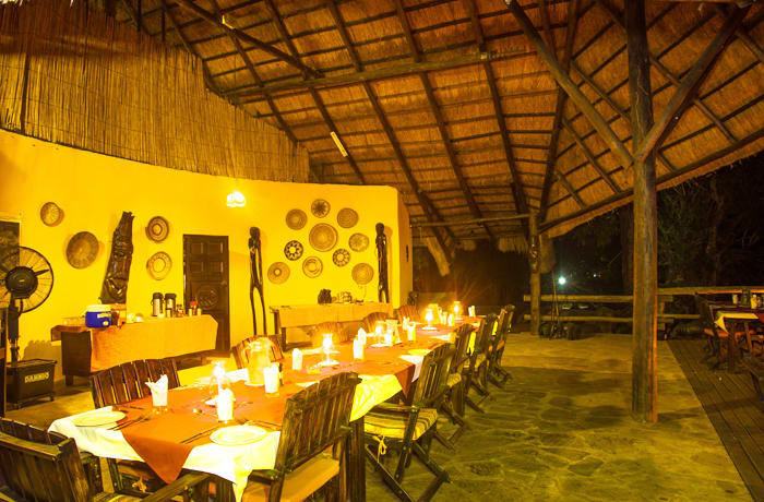 Your typical African safari lodge