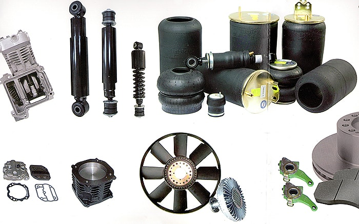 Parts from Diesel Technic, Trucktech, Eurotech, Auger and others