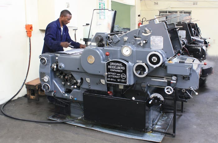 Sub contracted printing services