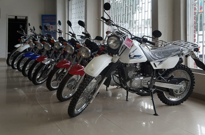 On/off road motor cycles ideal for deliveries