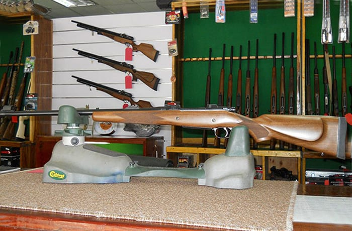 An array of quality guns and gear available for hire