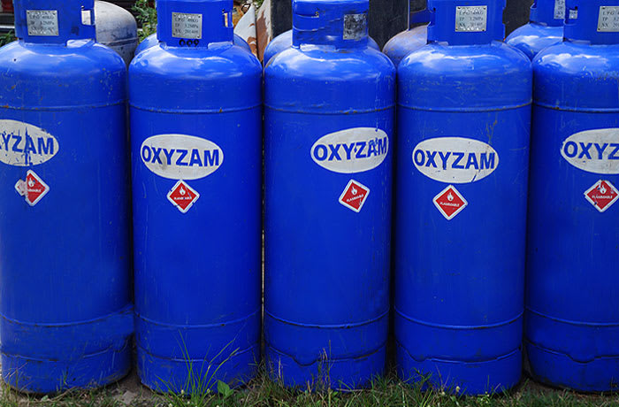Gas cylinders of all sizes including the small cadac and primus range