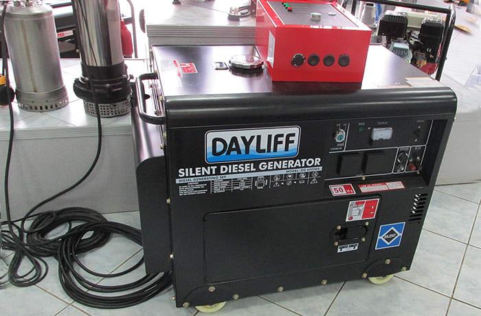 High-powered diesel generators