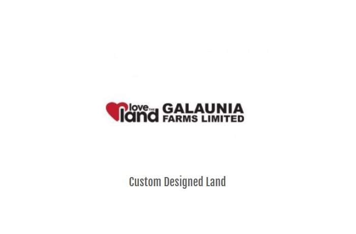 Plots are developed by Galaunia Farms Ltd