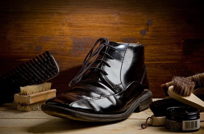 Shoe care products for leather, suede and nubuck shoes