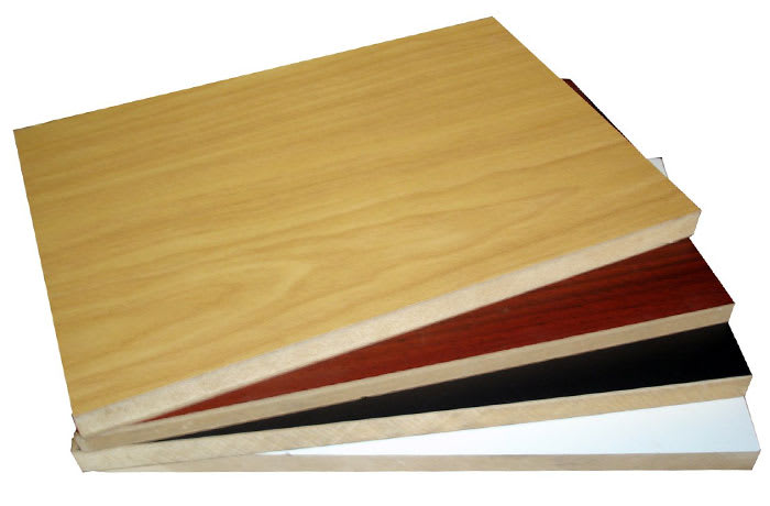 Laminated MDF and chipboard