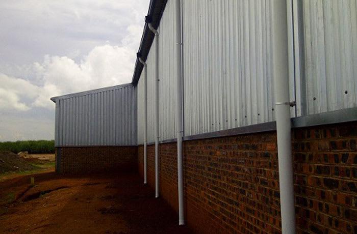 Rainwater down pipes
