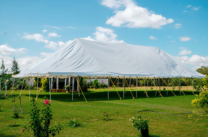 Available for hire 20 x 10 meter marquee, can cover over 250 tables